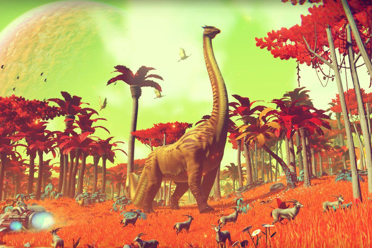 No Man's Sky dinosaur