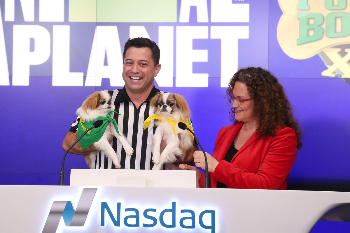 Discovery Communications And Animal Planet Ring The Nasdaq Closing Bell To Kick Off Puppy Bowl XII