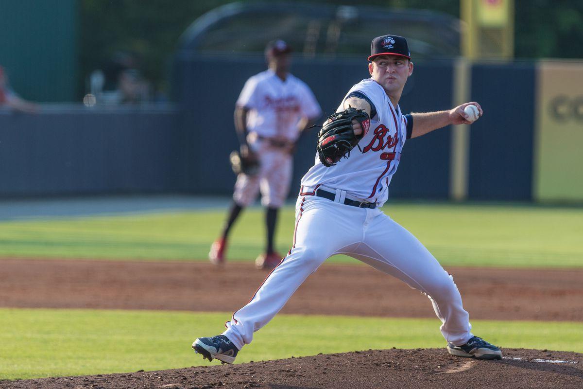 Atlanta Braves prospect Jared Shuster delivers a pitch