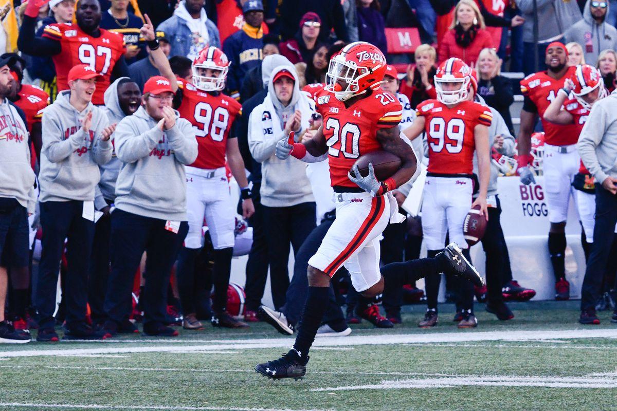 Javon Leake Maryland football homecoming 2019