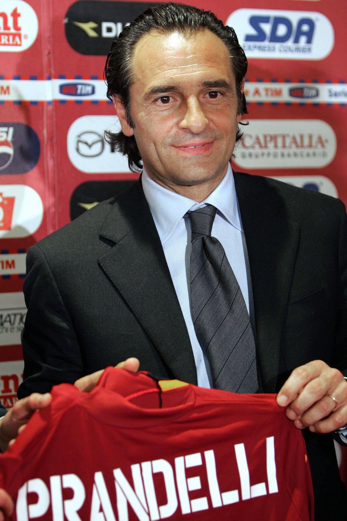 AS Roma's new coach Cesare Prandelli sho