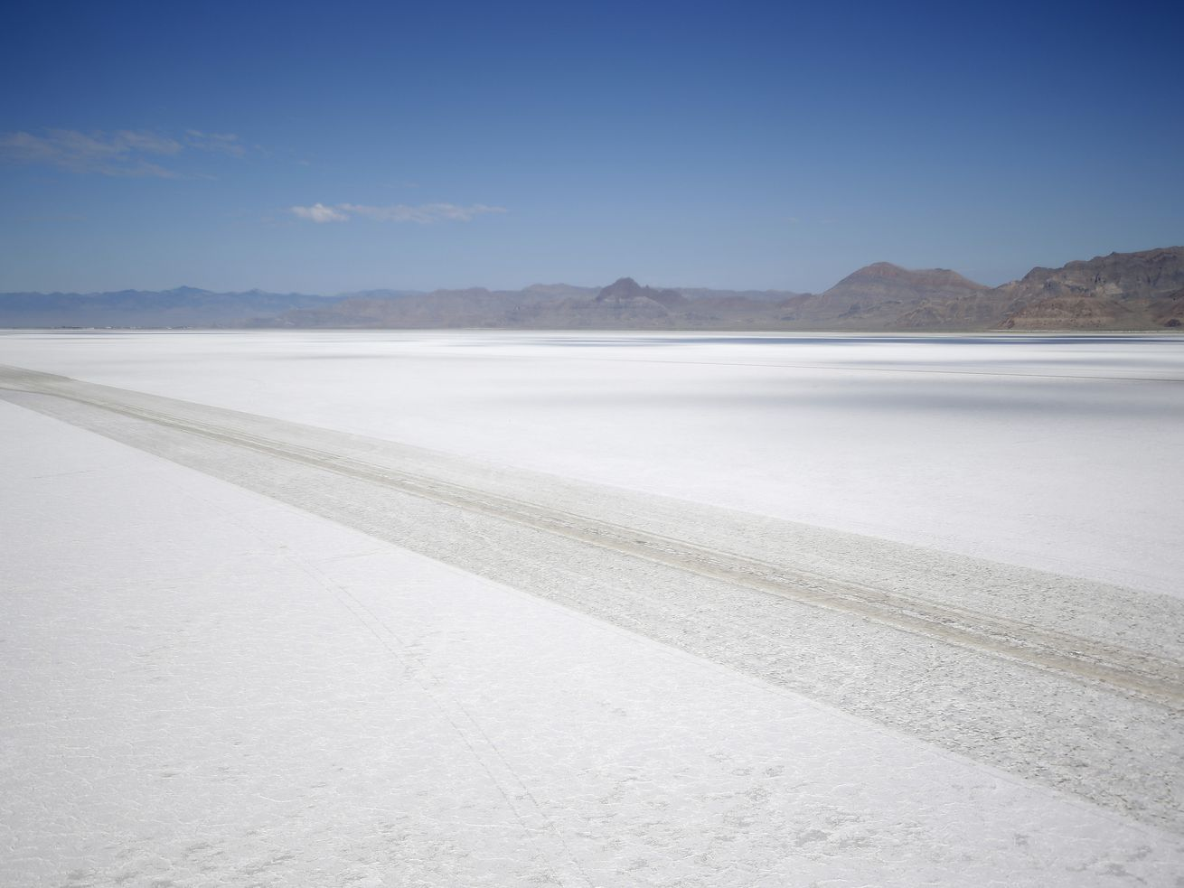 The Bonneville Salt Flats in Utah are pictured on Wednesday, July 22, 2015.