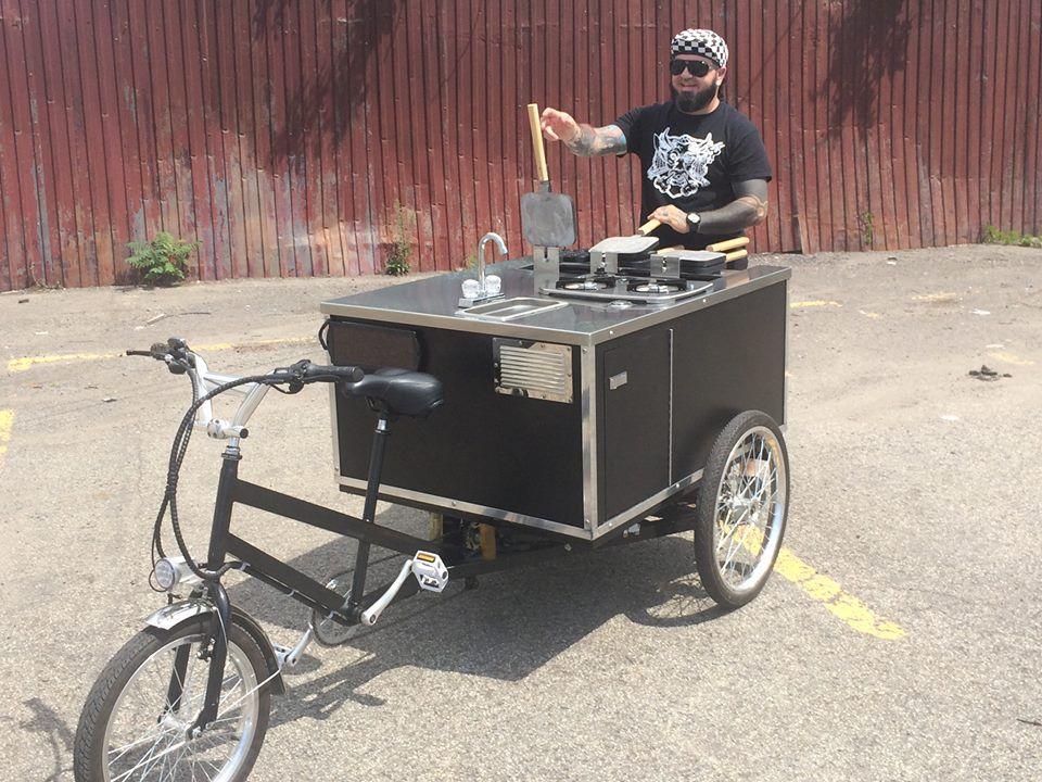 Eric Rice on his Rouxtine bicycle