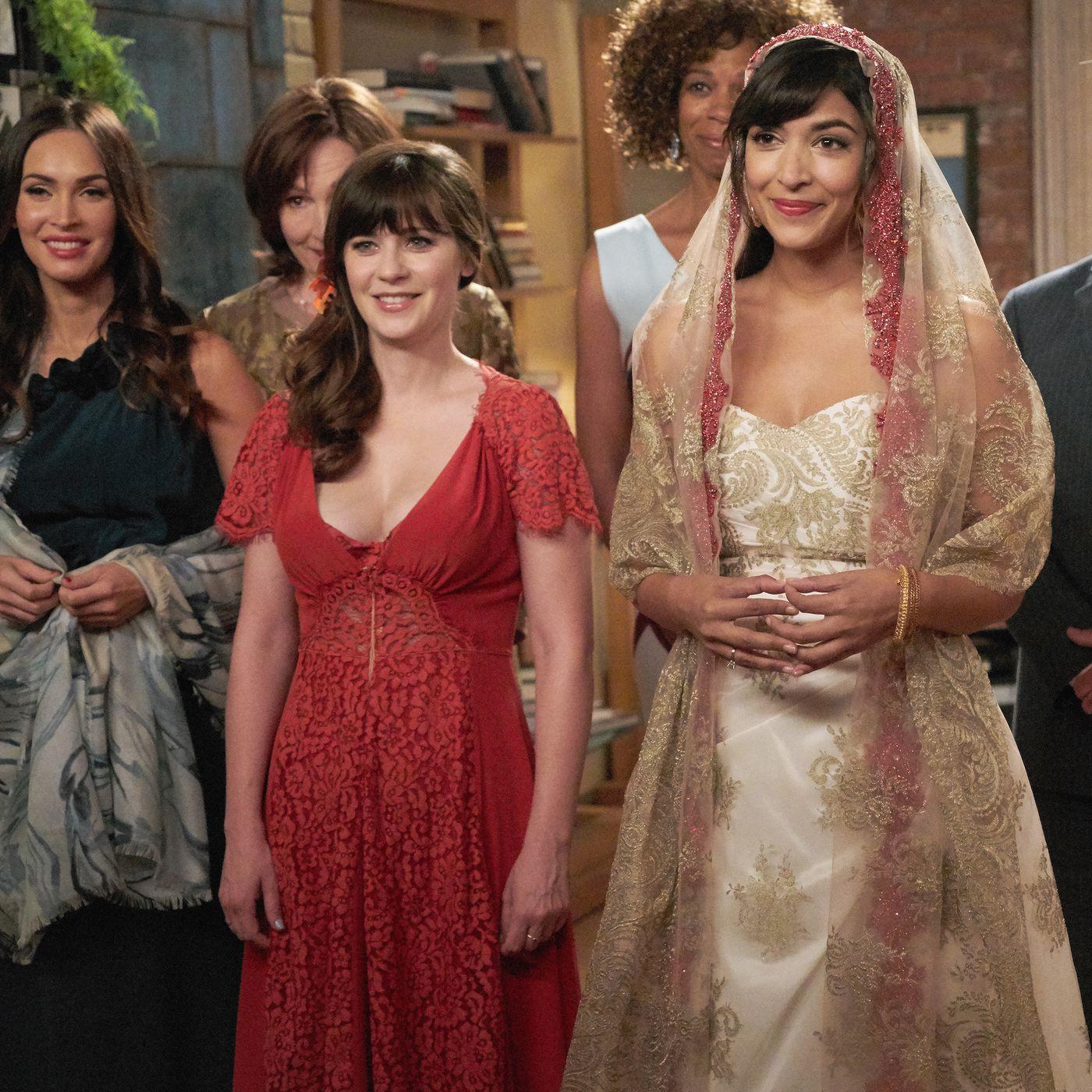 Zoey Dechanel Amazing Tulle Gown Wedding Dresses Used Wedding