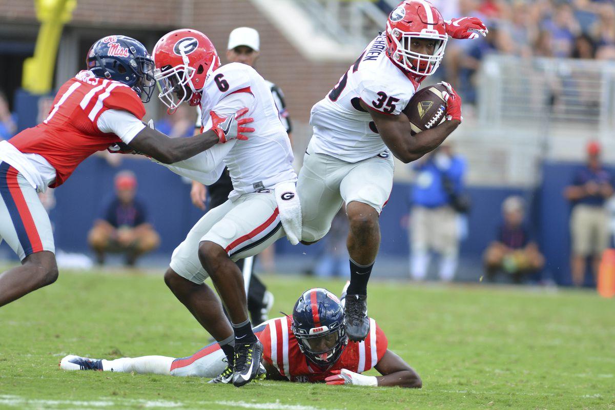 NCAA Football: Georgia at Mississippi