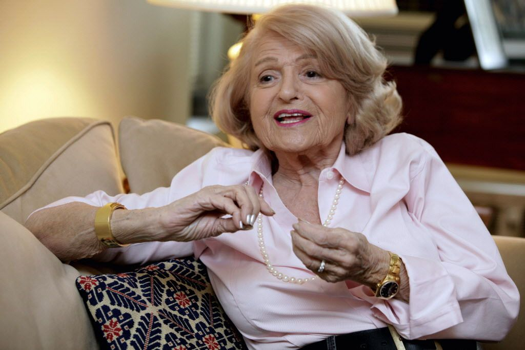 Edith Windsor speaks during an interview in her New York City apartment on Dec. 12, 2012. She died at 88 on Tuesday, Sept. 12, 2017, in New York. | Richard Drew/AP file photo