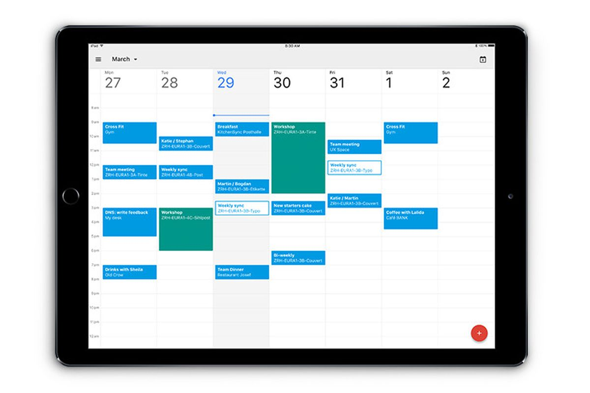 google calendar finally has a proper ipad app the verge. Black Bedroom Furniture Sets. Home Design Ideas