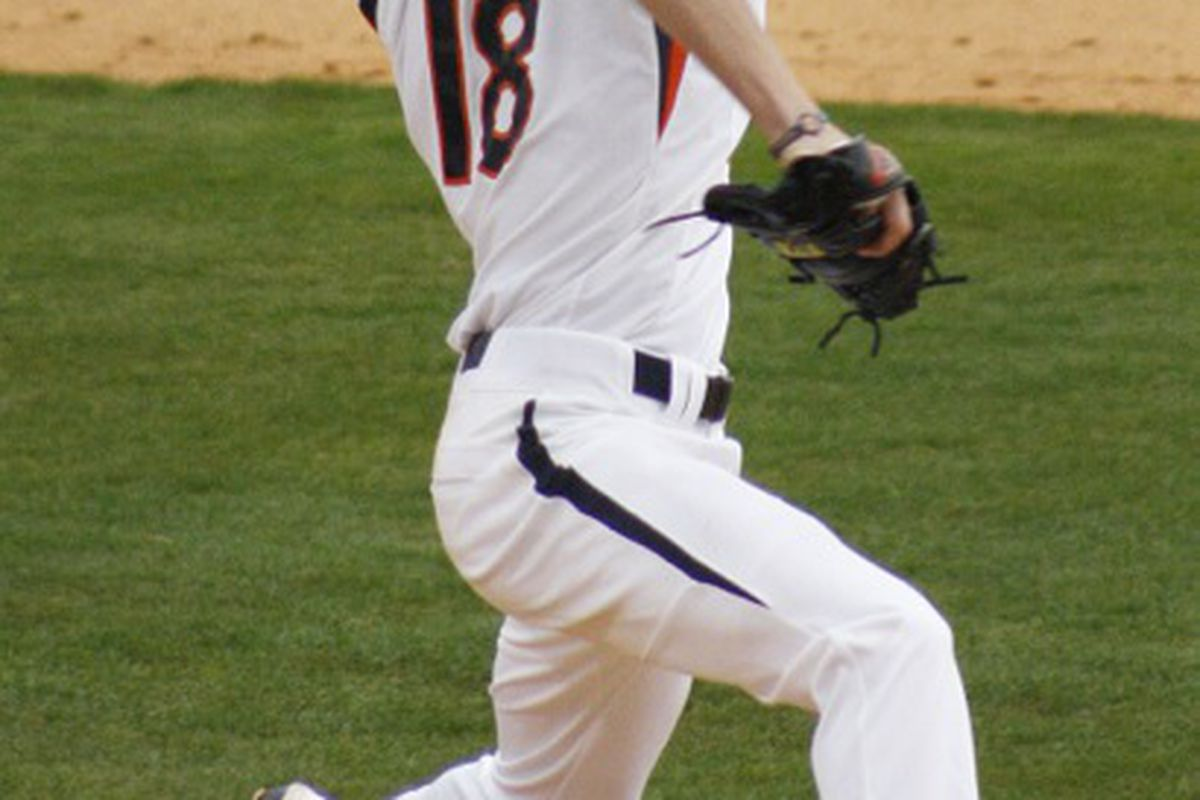 Auburn Freshman pitcher Daniel Koger put in another good performance in 5-4 loss to Arkansas on Friday May 11, 2012.