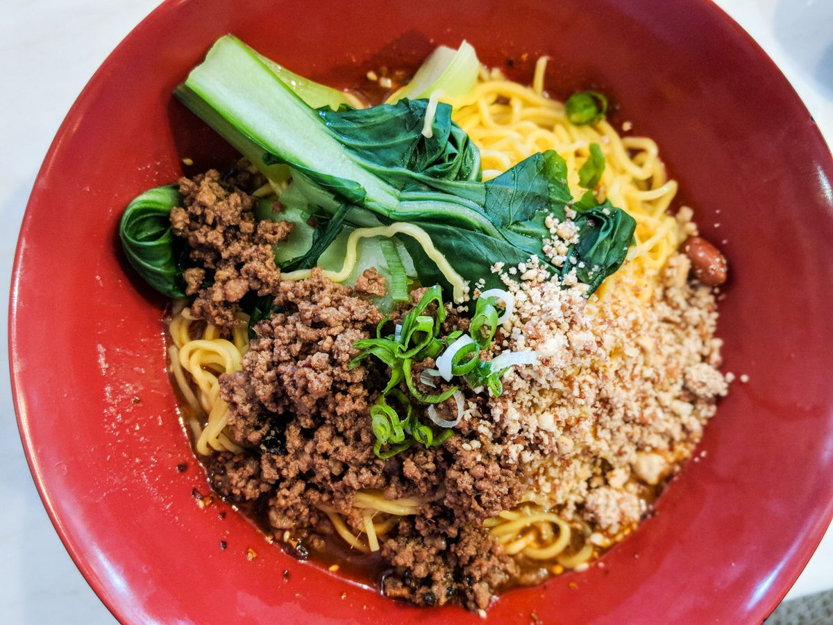 Dan dan noodles at Chong Qing Special Noodles