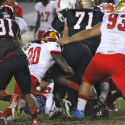 Demetrius Wright with one of his team-high 6 tackles.