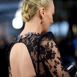 BEST TRIPLE BUN: Sorry, Nargis, but Charlize Theron will see your double bun and raise you one. (Hair: Enzo Angileri)
