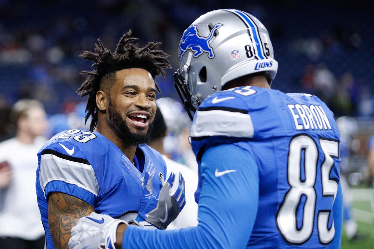 Travis Swanson Darius Slay back at Lions practice on Wednesday