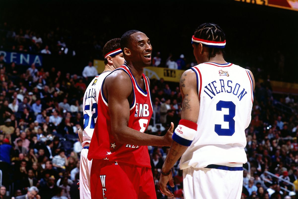 Bryant talks with Iverson