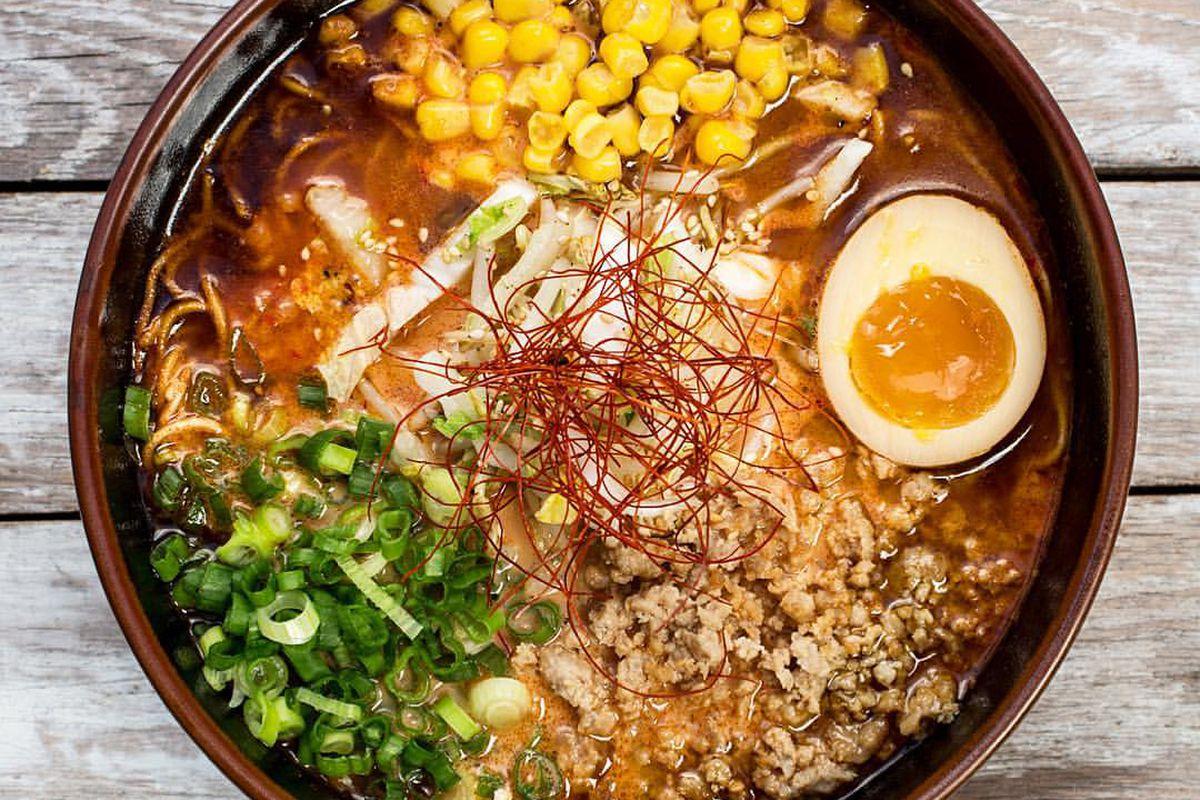 The mi-so-hot ramen at Ramen Tatsu-ya
