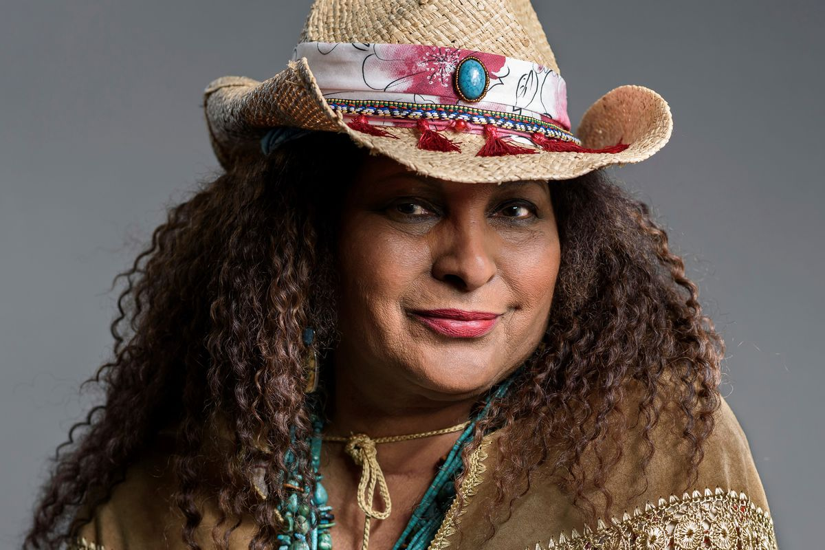 """This May 21, 2019 photo shows actress Pam Grier posing in New York to promote her ABC sitcom """"Bless This Mess."""""""