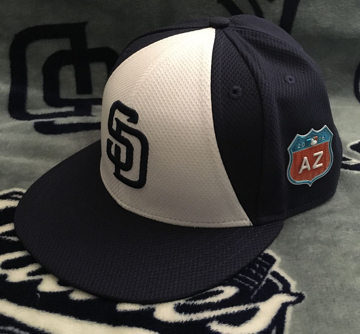 0be177f8c57df5 The new Padres Spring Training cap is a mix of the modern colorway with the  classic split-panel (bell shape). An addition to all Spring Training caps  is a ...