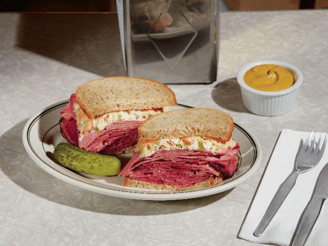 """""""The Maisel"""" sandwich at Carnegie Deli's Marvelous Mrs. Maisel popup"""
