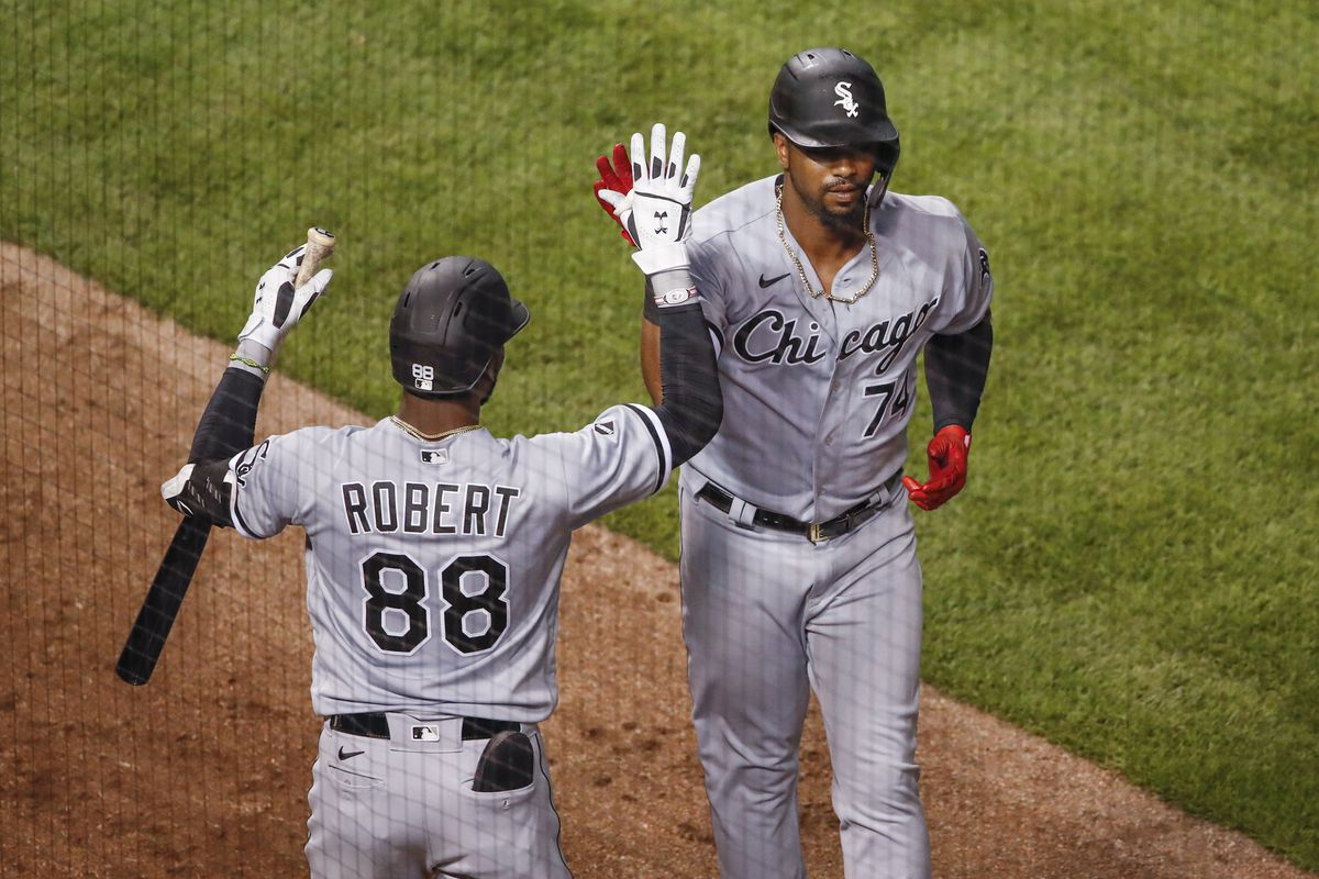 The White Sox will have to make some difficult calls when Luis Robert, left, and Eloy Jimenez are ready to return from injury.
