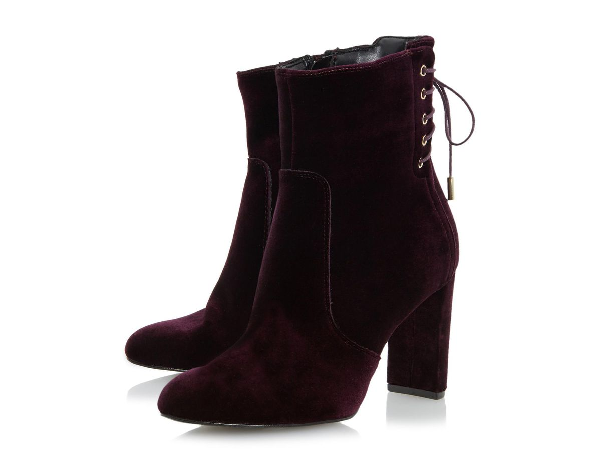 Dune London Octagon Lace Up Back Ankle Boot, $102
