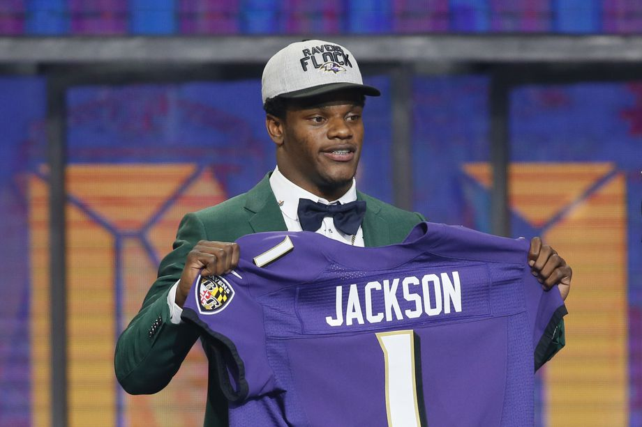 Ravens Quarterback Lamar Jackson on draft day. Photo Credit  USA Today. 3680b0427