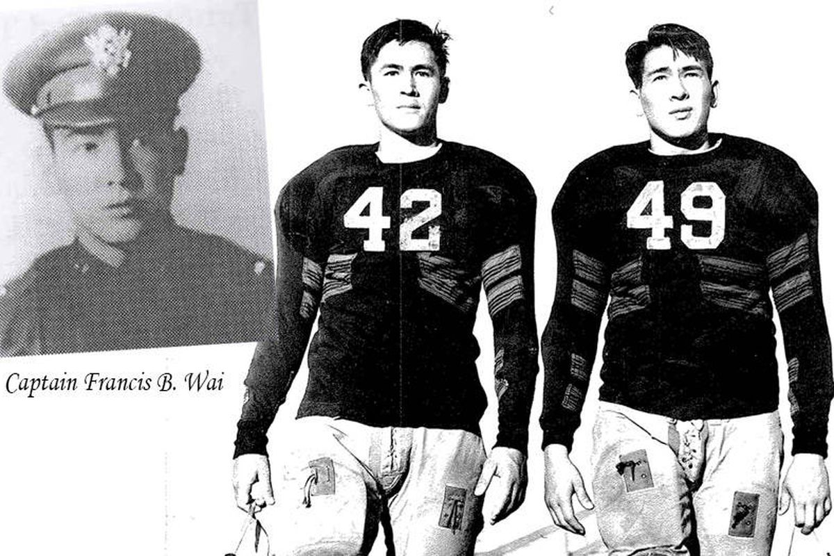 Francis Wai, #49, with his brother, playing for UCLA