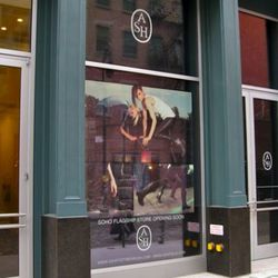 The storefront at the re-built 44 Mercer.