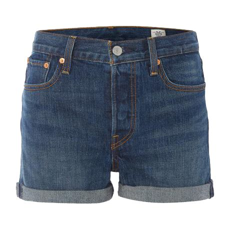 cuffed levi's shorts