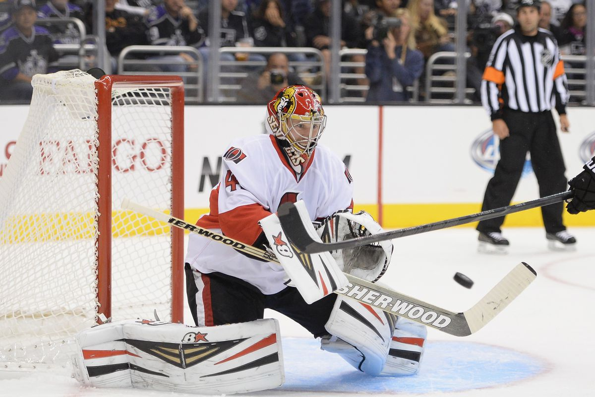 Craig Anderson wonders what it would be like not to face a shot.