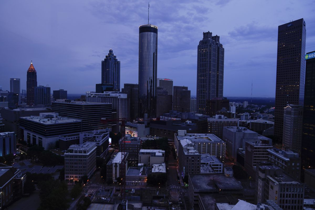 Clouds roll into downtown Atlanta on Wednesday, Aug. 11, 2021, in Atlanta. The Census Bureau has issued its most detailed portrait yet of how the U.S. has changed over the past decade. The agency on Thursday released a trove of demographic data that will used to redraw political maps across an increasingly diverse country.