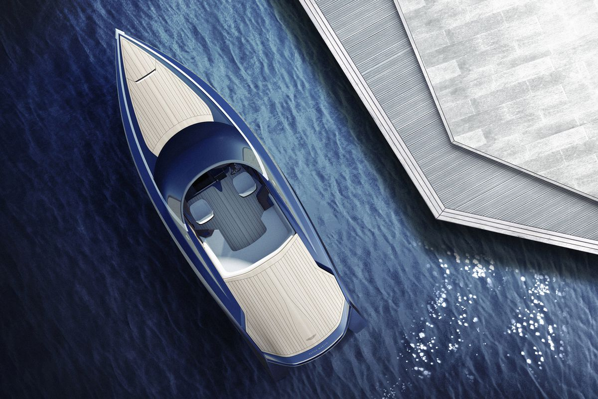 this gorgeous aston martin-designed powerboat is the yacht