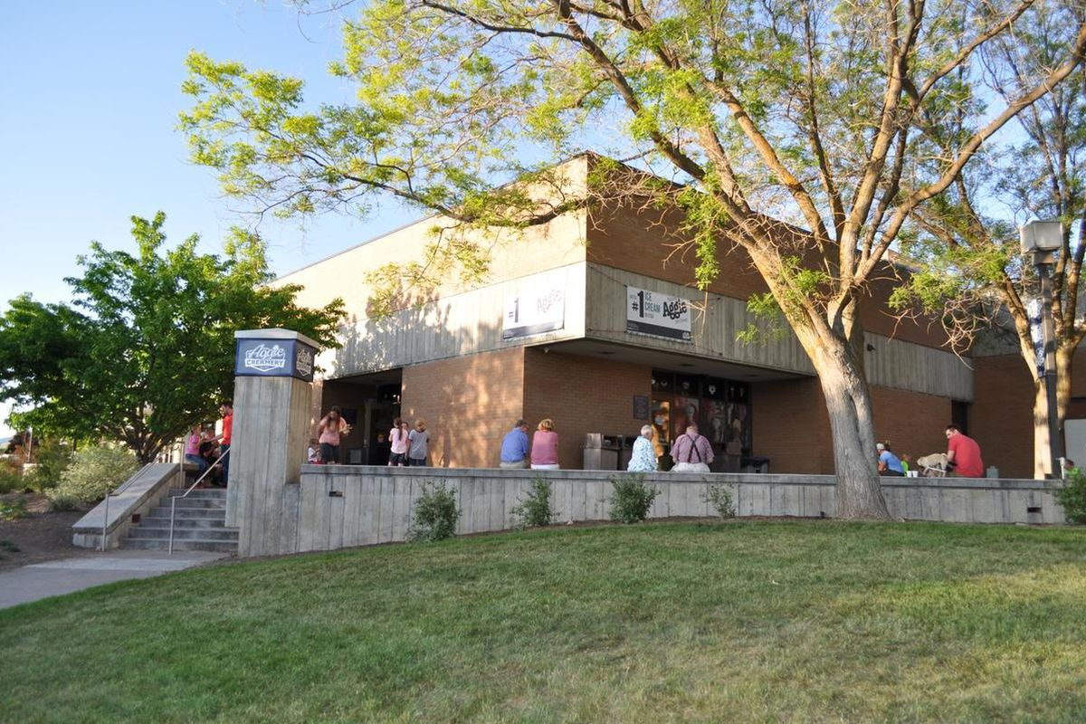 Aggie Ice Cream is located on the campus of Utah State University.