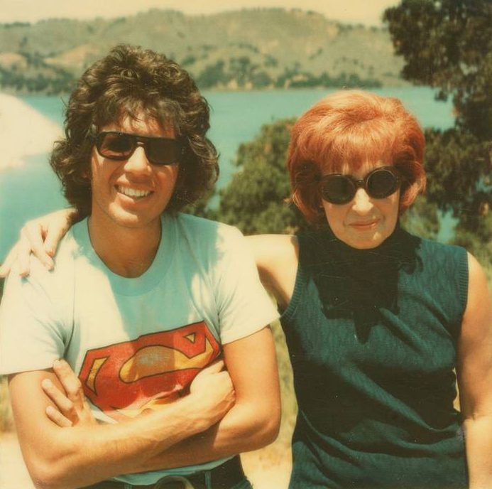 Garry Shandling with his mother, Muriel. | HBO