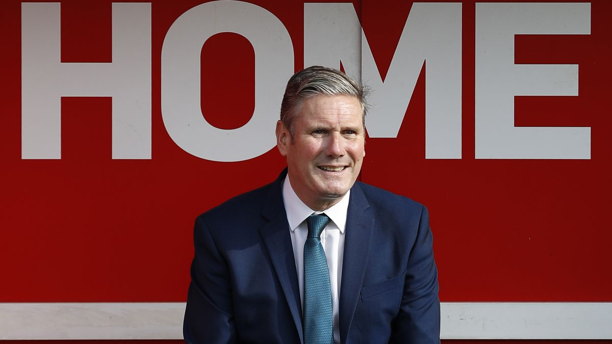 Labour Leader Keir Starmer Visits Walsall Football Club