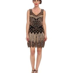 "<a href=""http://www.6pm.com/unique-vintage-beaded-fringe-flapper-dress-black-gold"">Unique Vintage Beaded Fringe Dress</a>, $178.80 (was $298)"