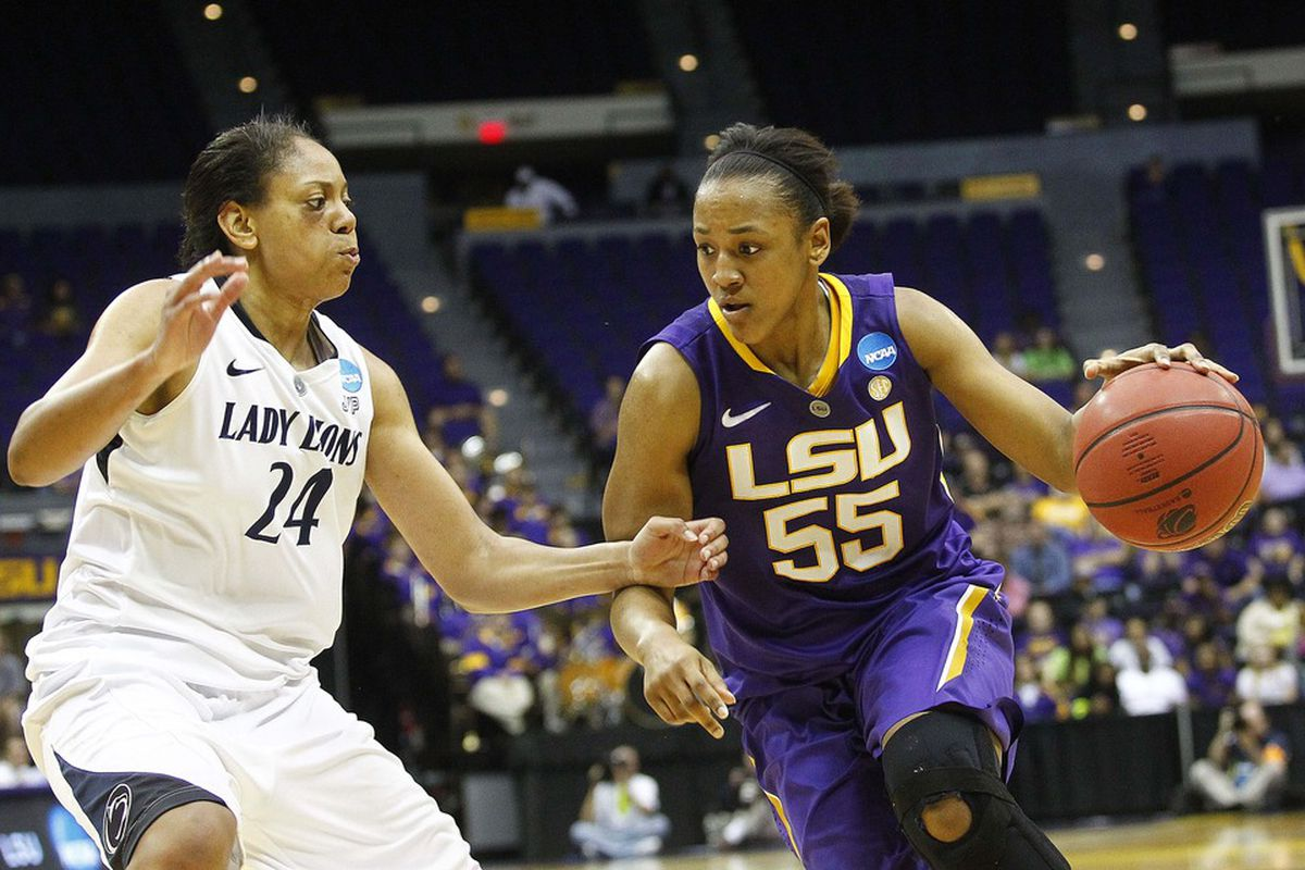 LaSondra Barrett's versatility and ability to attack the basket made her a valuable player at LSU, but how much of that production will transfer to the WNBA? <em>Crystal Logiudice-US PRESSWIRE</em>