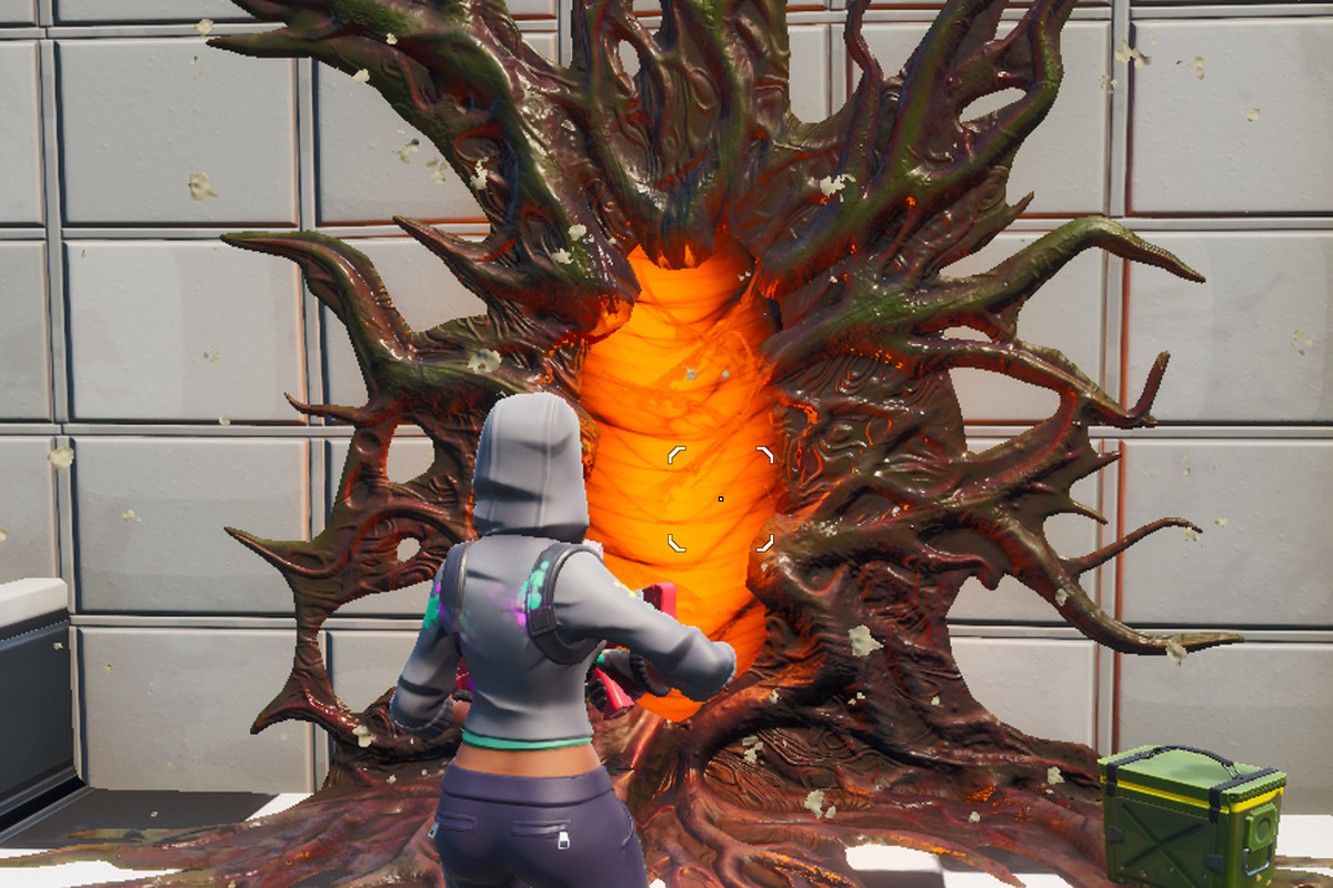 A Stranger Things portal in Fortnite