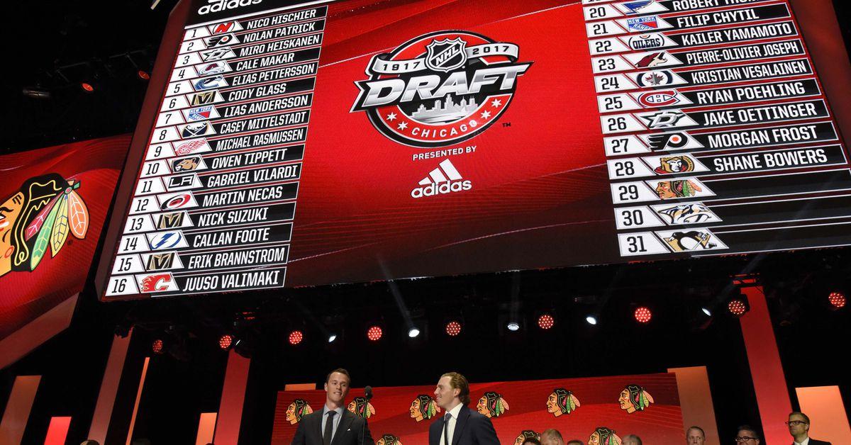 nhl draft order 2018 complete selection list
