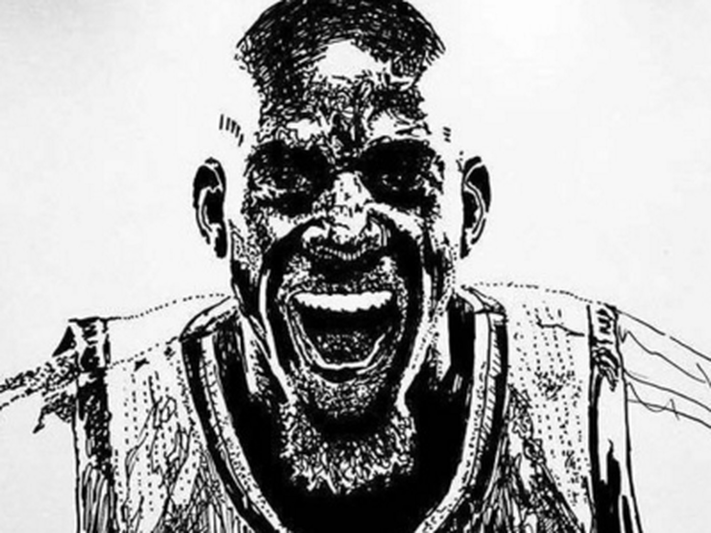 Check Out This Amazing Drawing Of Kevin Garnett Canis Hoopus