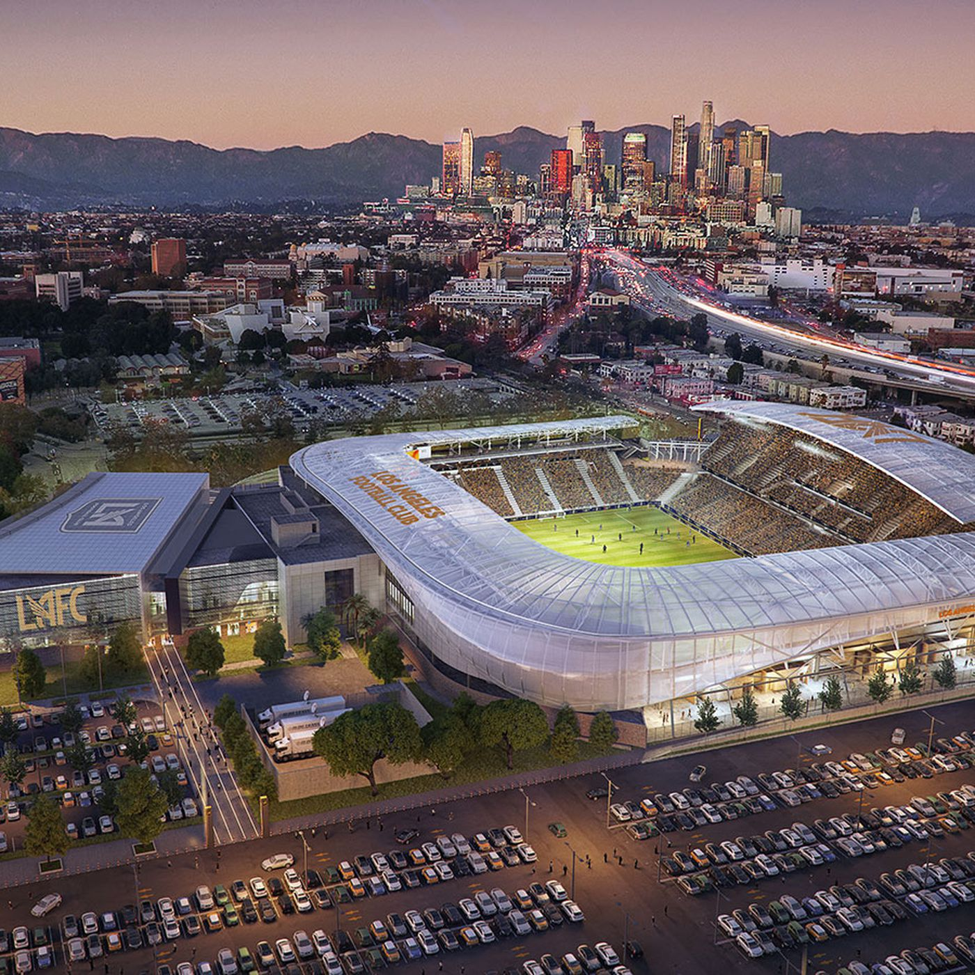 Los Angeles Football Club Stadium In Exposition Park Underway Now Curbed La