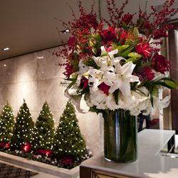 Floral arrangements and decor will change with the seasons.