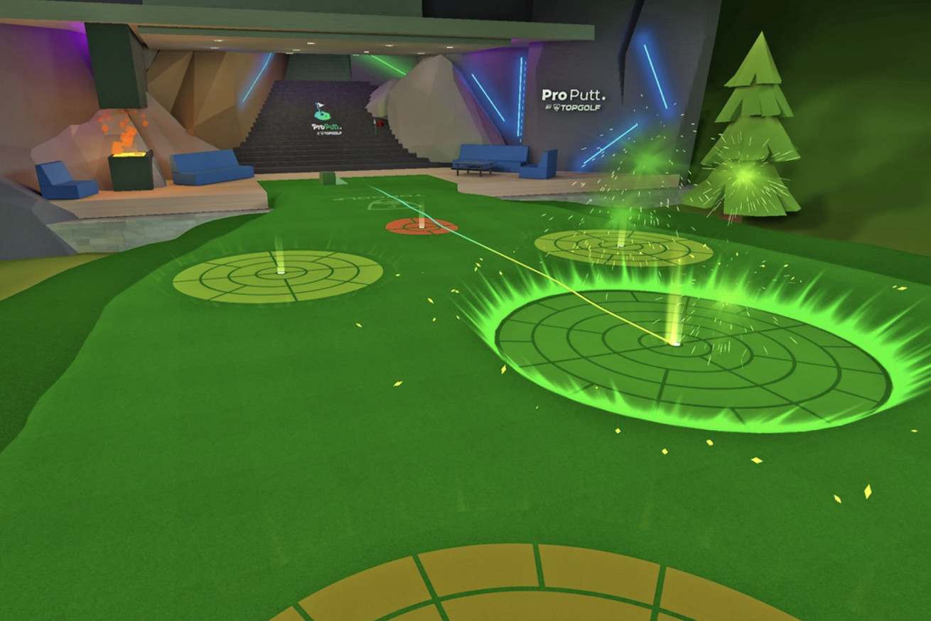 The Topgolf VR game is somehow more realistic than the real thing
