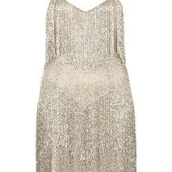 BEADED FRINGE TIERED DRESS, $500