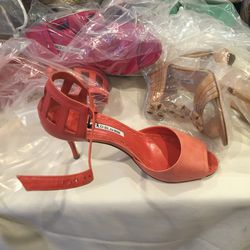 Suede heel with metal hardware, size 37, $150
