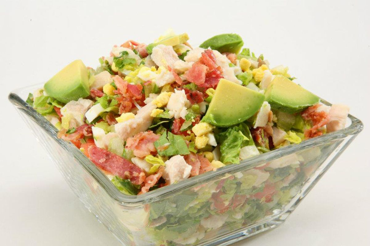 A cobb salad, one of house creations now available daily inside the Chop Stop at Town Square.