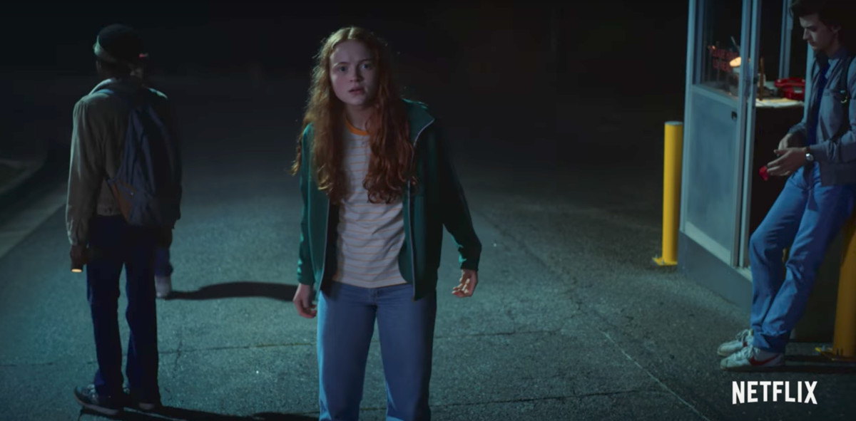Girl with red hair in 'Stranger Things'