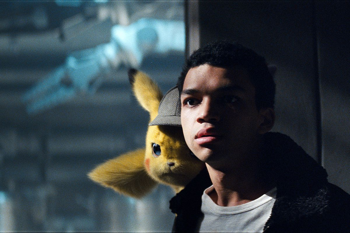 A still from the movie Detective Pikachu