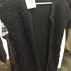 McQ Alexander McQueen loop knit long vest, size 42, $159