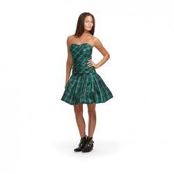 Luella Bartley for Target Gathered Dress in Green/Navy Tartan $44.99