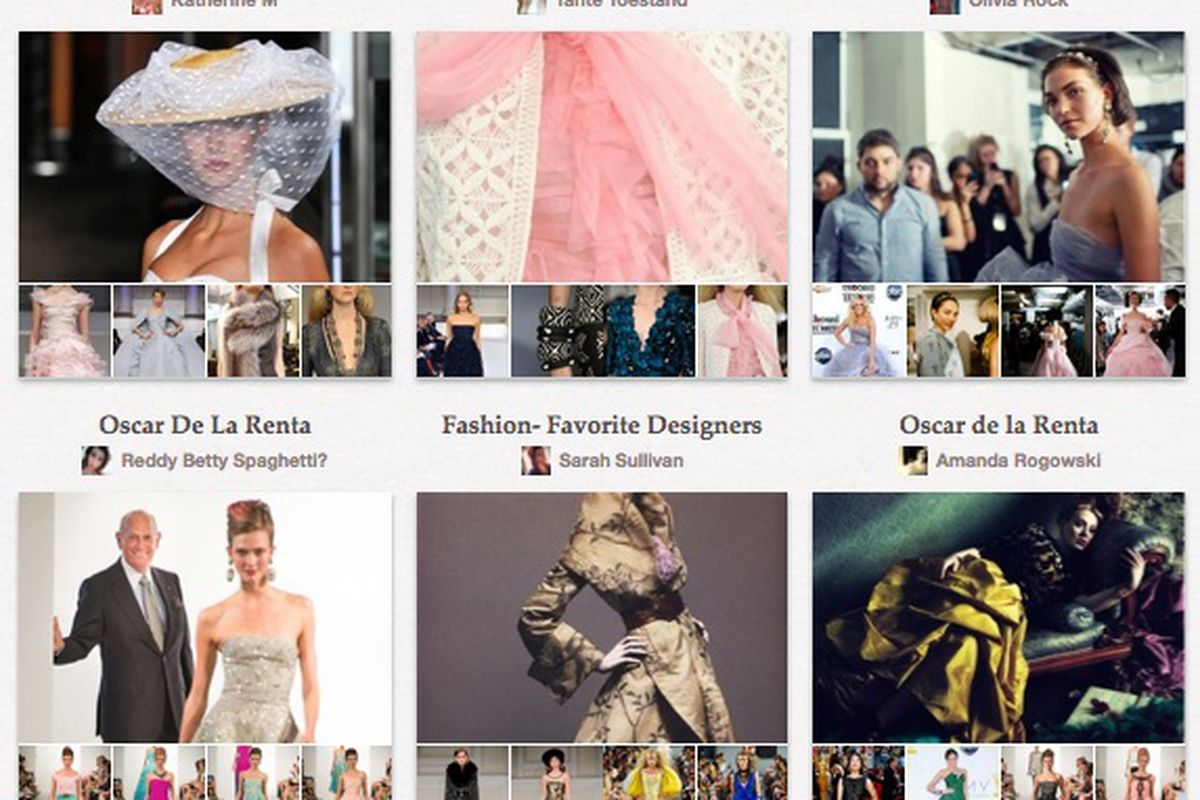 Oscar de la Renta: One of the early adopters of Pinterest