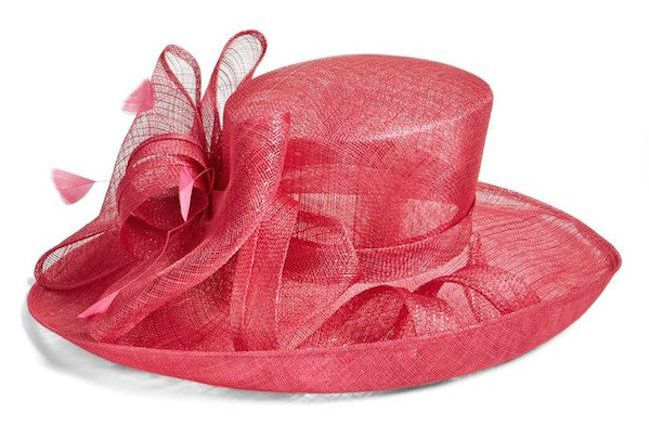 Pink Feathered Bow Hat